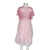 Girl Princess Pink Flower School Uniform Kids Frocks Casual Grenadine Lace Dress