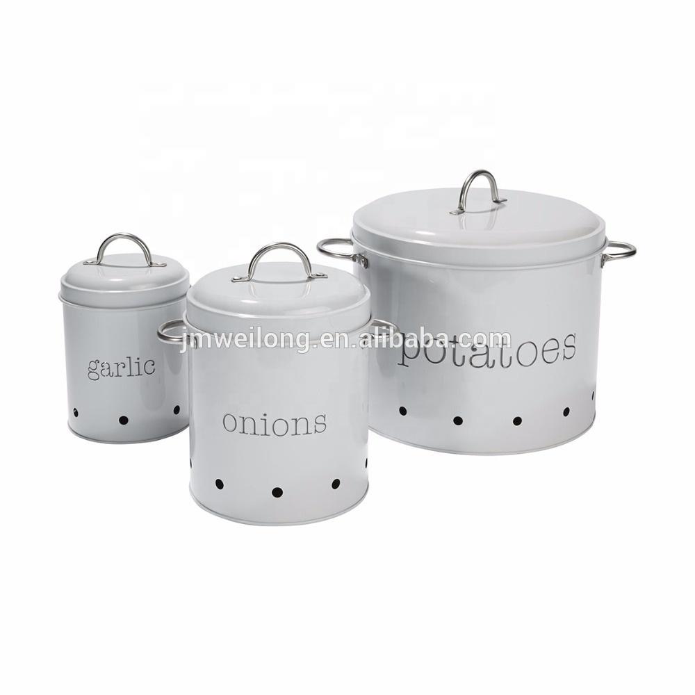 Metal Canister Potato Storage Tin Kitchen Storage Bin - Buy Decorative  Metal Storage Bins,Metal Storage Canister,Kitchen Canister Set Product on  ...