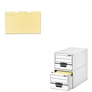KITFEL00721UNV12113 - Value Kit - Bankers Box Stor/Drawer File Drawer Storage Box (FEL00721) and Universal File Folders (UNV12113)