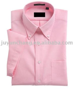 Cotton Yarn Short Sleeve Peach Color Shirt Men - Buy Shirt Men ...