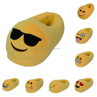2017 Hot sale Whatsapp emoji slipper fluffy emoji winter slipper for indoor
