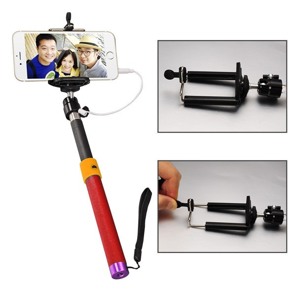 hottest foldable wired cable selfie stick flexible extendable stick selfie for smartphone buy. Black Bedroom Furniture Sets. Home Design Ideas