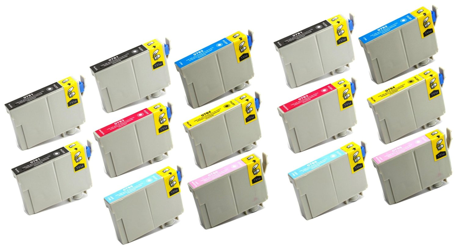 14 Pack Remanufactured Inkjet Cartridges for Epson T078 #78 T078120 T078220 T078320 T078420 T078520 T078620 Compatible With Epson Artisan 50, Stylus Photo R260, Stylus Photo R280, Stylus Photo R380, Stylus Photo RX580, Stylus Photo RX595, Stylus Photo RX680 (4 Black, 2 Cyan, 2 Magenta, 2 Yellow, 2