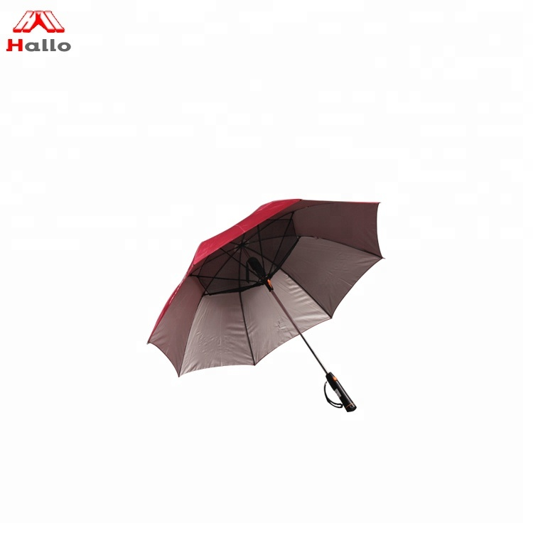 Promotional Advertising Logo printing Long-handle Windproof Golf Fan Umbrella