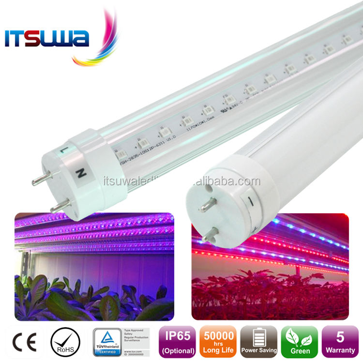 T8 Led Tube Grow Light 1.2m 4ft Indoor Hydronic Greenhouse Seeding ...