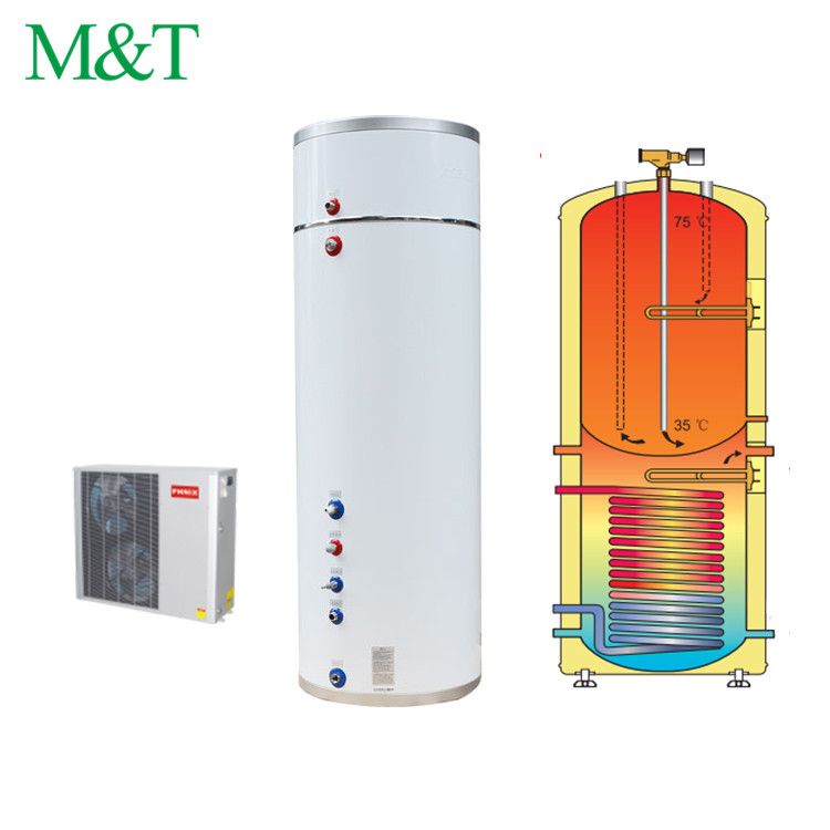 China air source heat pump split system hot life water heater with storage tank