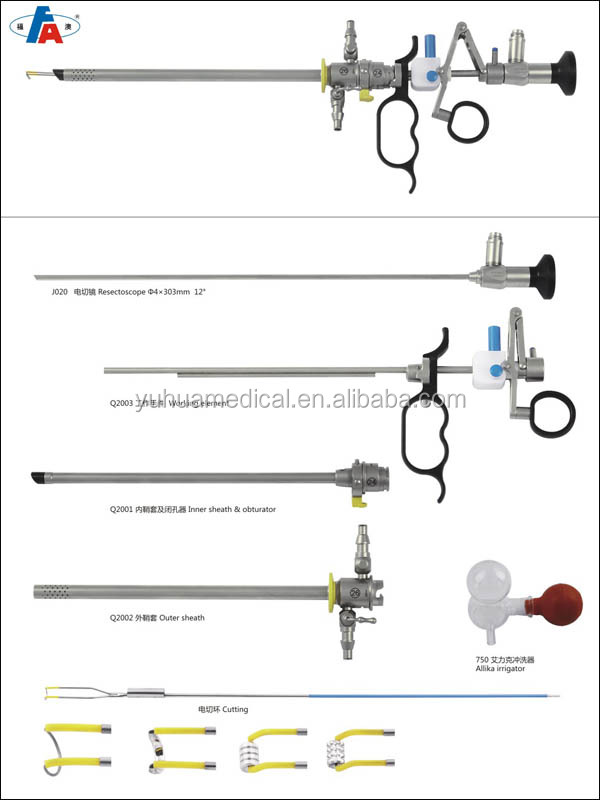 DGJ-A Resectoscope surgical instrument set/kit for urology surgery