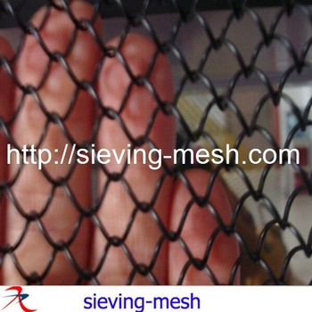 stainless steel chain link fence / chain curtain heat resistant