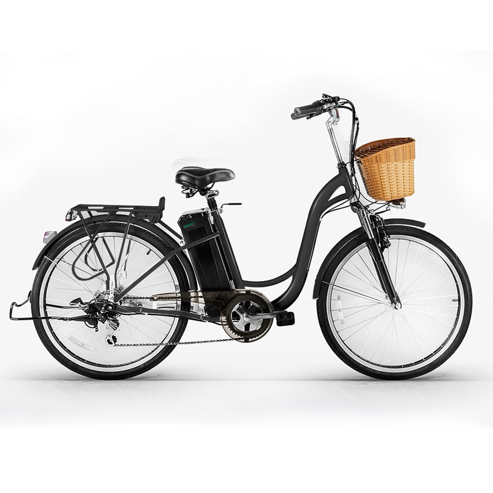 """Nakto 26"""" 250W Cargo-Electric Bicycle 6 speed e-Bike 36V Lithium Battery Aadult/Young Adult-Women"""