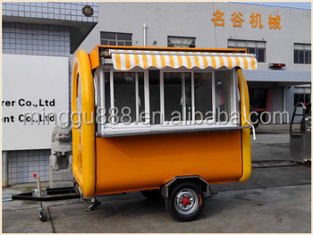 Food cart street vending truck with stainless working table/ Push-pull window