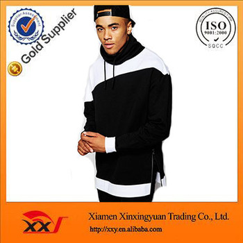 a8a0aac8b21 Custom Cut And Sew Apparel Longline Oversized Plain Sweatshirt With Cowl  Neck and Side Zips Wholesale