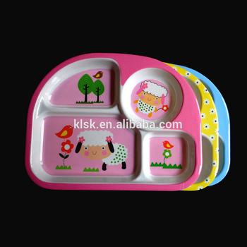 Food Grade 4 Compartments Kids Melamine Divided Dinner Plate & Food Grade 4 Compartments Kids Melamine Divided Dinner Plate - Buy ...