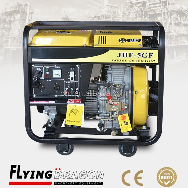home use standby power 5 kw electric portable generator price with air cooled system