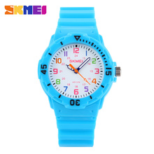 Low Price Analog Quartz Watch,Waterproof Silicone Watch Color SKMEI 1043