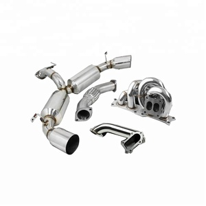 TURBO MANIFOLD+RACING DOWNPIPE+ EXHAUST CATBACK 91-95 FOR TOYOTA MR2 W20  3S-GTE