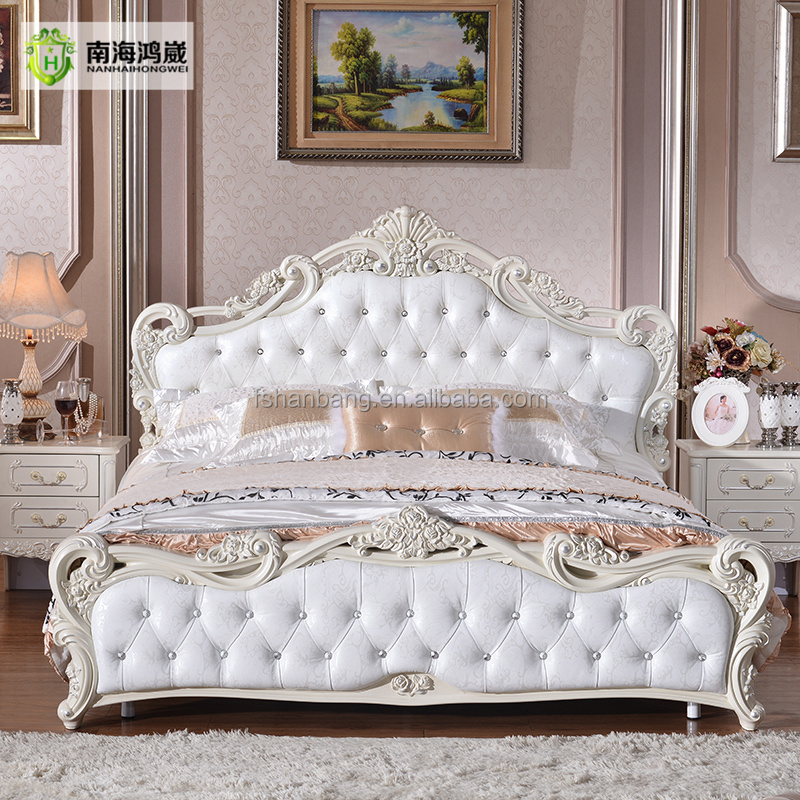 luxus geschnitzten rose romantische wei design leder holz hochzeit schlafzimmer m bel holzbett. Black Bedroom Furniture Sets. Home Design Ideas