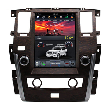 NaviHua 13.6 inch android car dvd player gps navigation for Nissan Patrol high Tesla vertical screen stereo headunits multimedia
