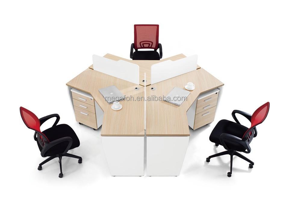 Dubai markt b ro workstation schreibtisch f r 3 person 6 for Schreibtisch 4 personen