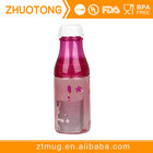 2 parts Detachable Japanese Cherry Sunny Tritan Plastic Portable Milk Sports Coke cola Soda Water Bottle