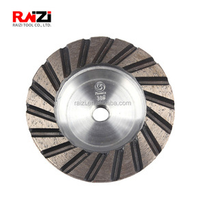 RAIZI 4 inch/100mm Aluminum Base turbo Diamond Cup Wheel for grinding granite marble stone