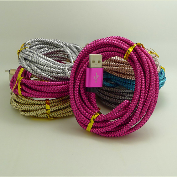 Nylon Braided usb <strong>Cable</strong> wholesell china data <strong>cable</strong> 3m