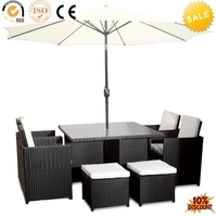 garden line patio 8 seater rattan dining table, garden furniture