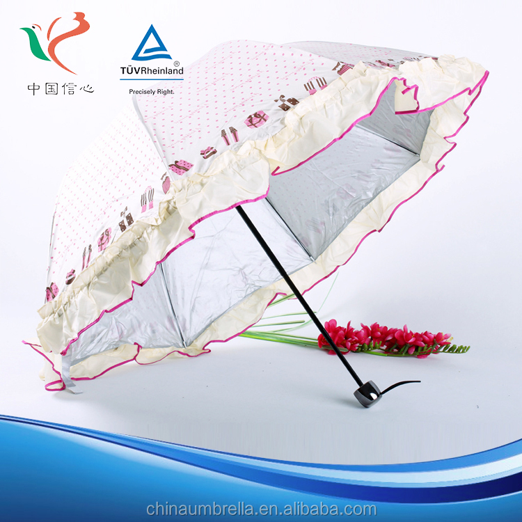 New Product Classical Sunshade promotional umbrella white parasol