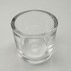 Sedex-4pillar factory round recycled custom thick votive tealight holder cup glass candle jar