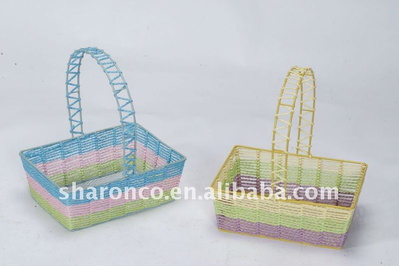 Colorful wire basket for packaging
