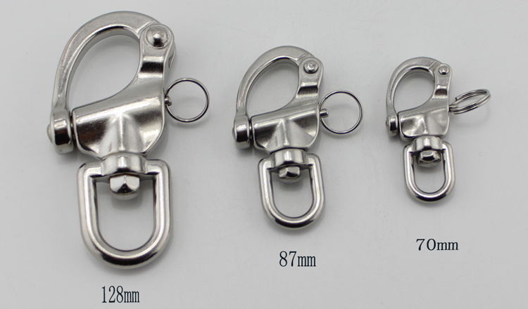70mm Grillete giratorio de acero inoxidable 316 Grillete giratorio de ojo giratorio Grillete r/ápido de 70 mm