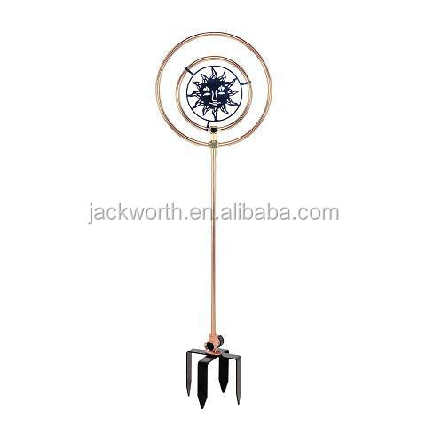 Ornamental copper water sprinkler with 4 prongs spike