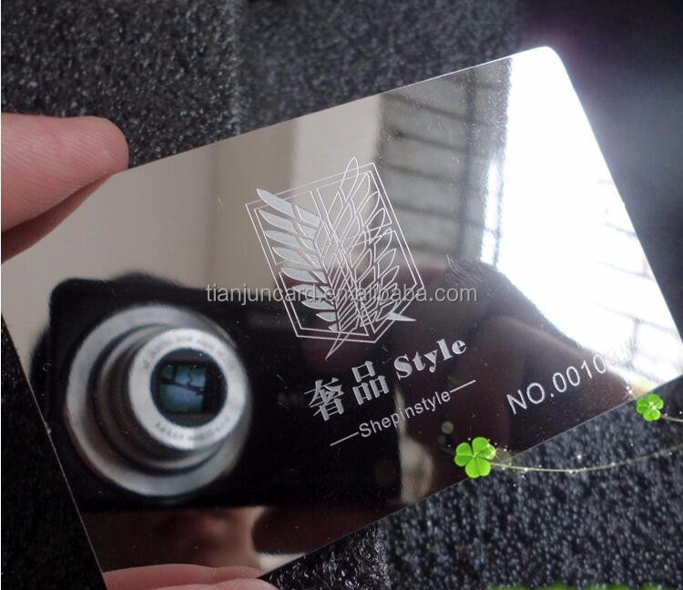 Full Color Printing Plastic Mirror Business Cards Shenzhen Factory ...