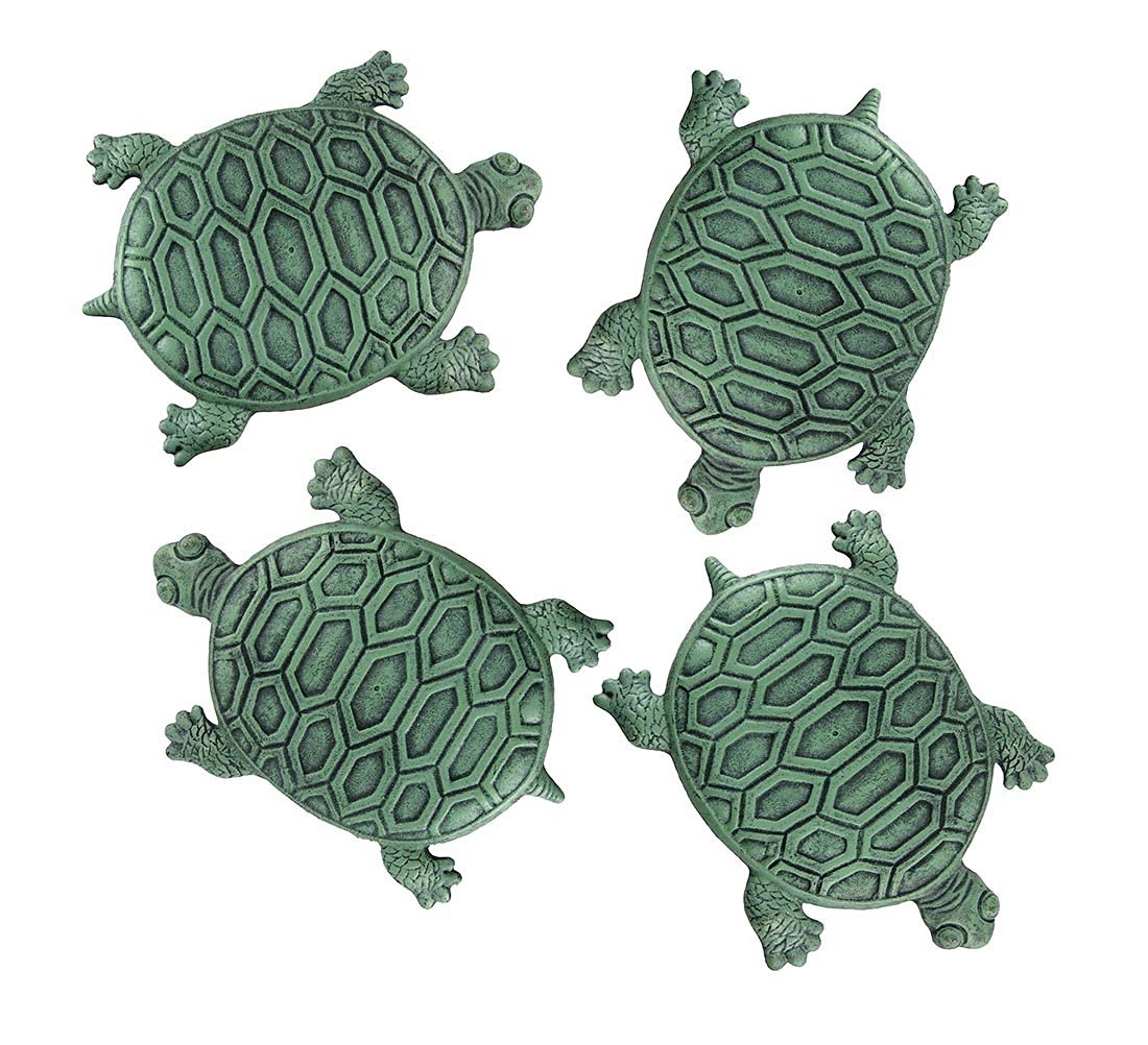 Get Quotations Cast Iron Stepping Stones Set Of 4 Turtle Garden Step Tiles 12 75