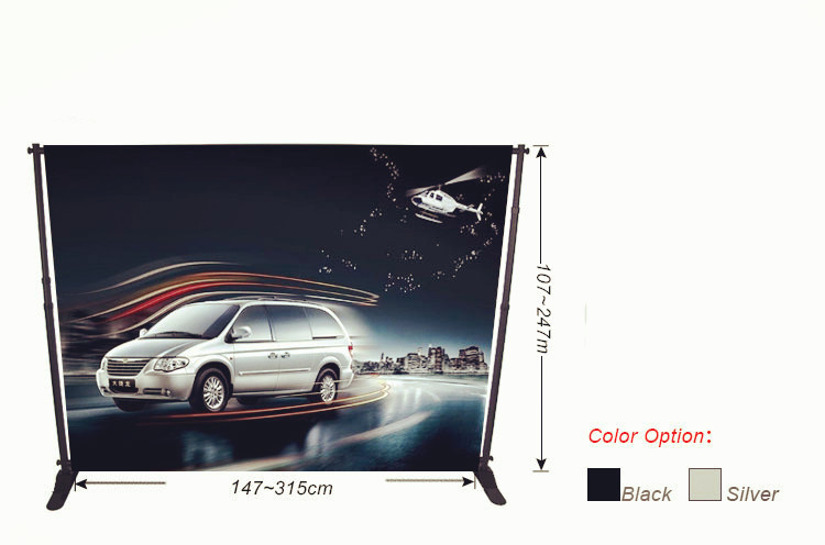 Multifunctional Telescopic Manufacture Advertising Aluminum Display Stand With Fashionable Design