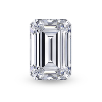 Quality VVS clarity emerald cut D color super white moissanite diamond for Ring
