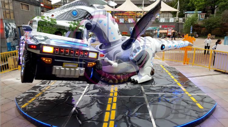 गर्म बिक्री इनडोर, आउटडोर मनोरंजन पार्क सवारी घूर्णन डायनासोर उड़ान कार खेल बच्चों के लिए