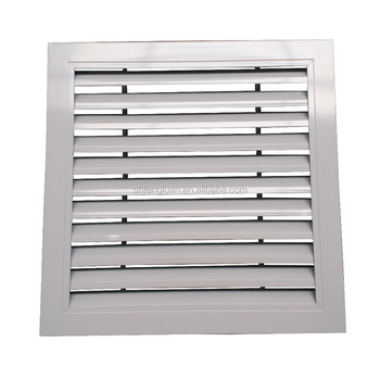 Aluminium linear bar air supply/return grille with removable core for air conditioning ventilation