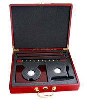 Red wood box classical executive office golf putter gift set