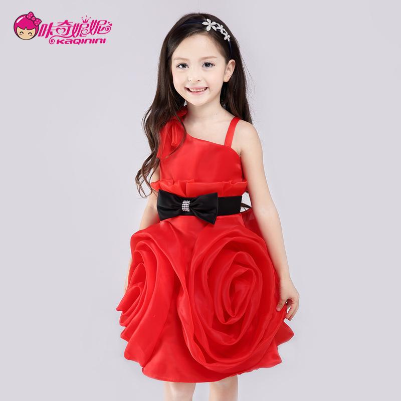 a49e739aa742 Girls Dresses 2016 Summer Princess Dress Teenage Girls Clothing Red ...