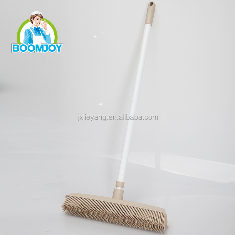 BOOMJOY Telescopic Long Handle Floor <strong>Brush</strong> for Strong Dirt Removal