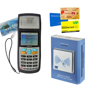 Parking lot stored value card payment system with English backend management software for fare setting