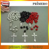 Fashion Catholic Rosary Cross Pendant Bead David Beckham Chain Necklace