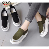 2018 Popular Fashion Breathable Women Lady Casual Sneakers Shoes With Hidden Heel