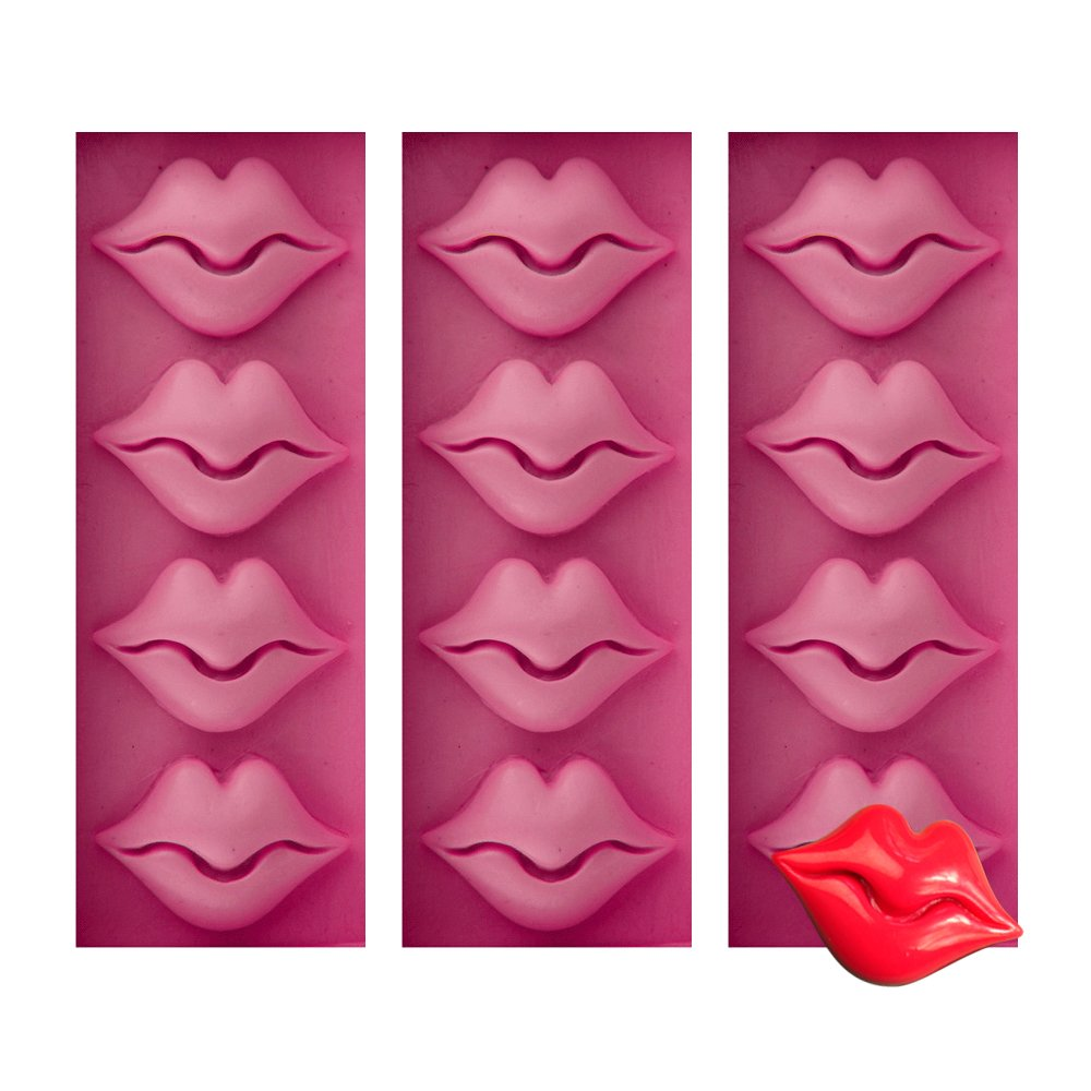 b868539c069e3 Get Quotations · Baidecor Sexy Lips Candy Mold Chocolate Molds Set of 3
