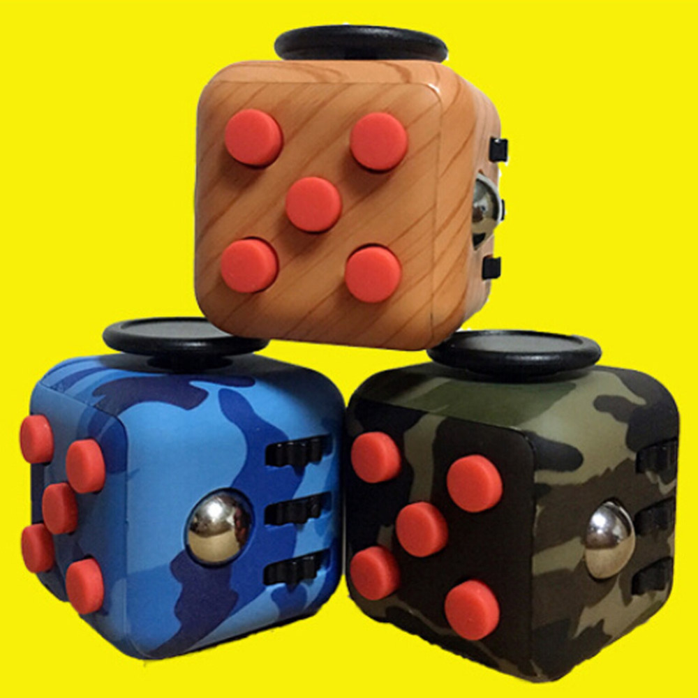2017 best sell alibaba EDC Fidget Toy Magic camo colour Fidget Cube