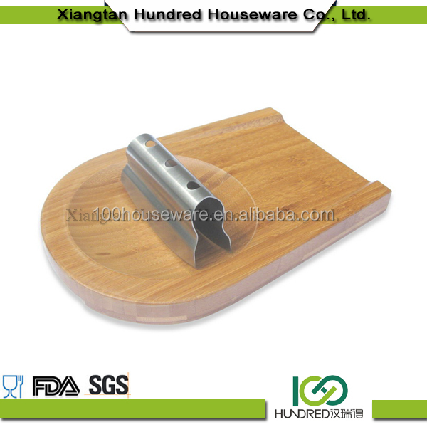 Bamboo Cheese Board with Slicer Eco-Friendly Wood Custom Bamboo Cutting Board
