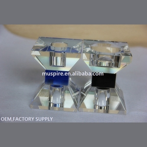 Factory supply best selling crystal candle holder shade
