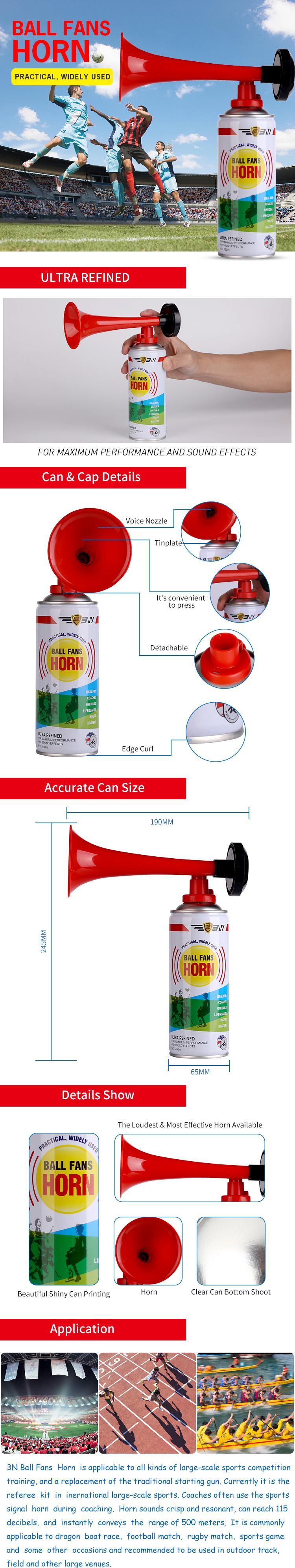 Tragbares Druckluft-Horn für Jubel, kleines Gas-Luft-Horn für Geburtstagsfeier, Camping, Spiele, Sport und besondere Anlässe