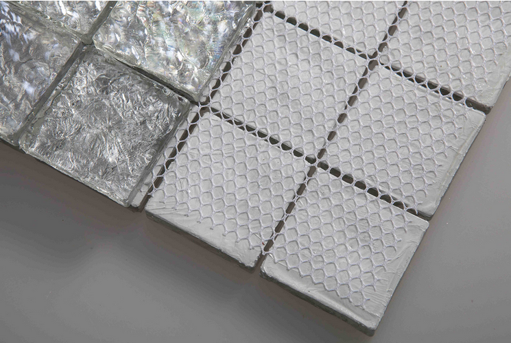 Hot sale glossy silver glazed glass mosaic glass tiles