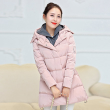 HOT maternity clothing maternity autumn winter wadded jacket knit hooded fashion thickening maternity outwear cotton padded